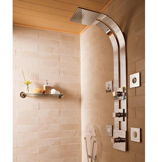 Graff Contemporary GD2 Thermostatic SKI Square Massage Shower System With  Body Sprays
