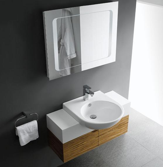 LADA Domius 90 Wall Hung Bathroom Vanity Set 36