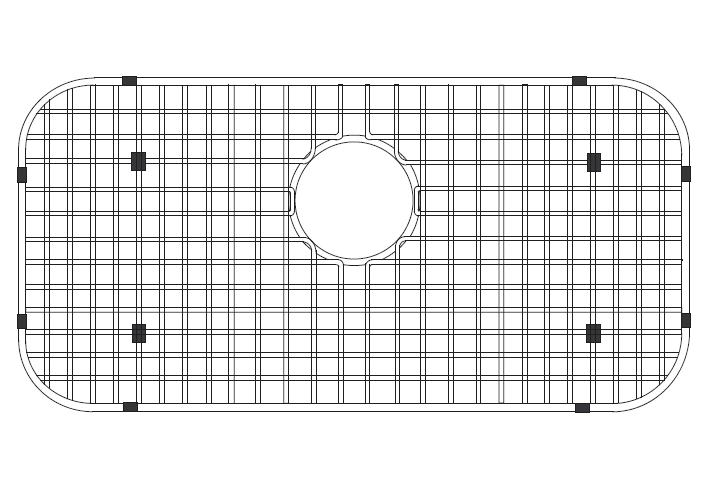 LADA BG3219 Stainless Steel Sink Bottom Grid