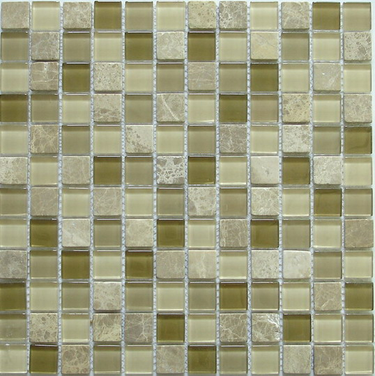 LADA GS11 Glass & Stone Mixed Series Mosaic Tile