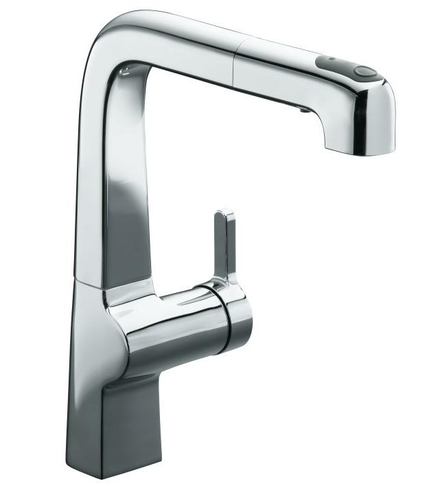 Kohler K-6331 Evoke single-control pullout kitchen faucet