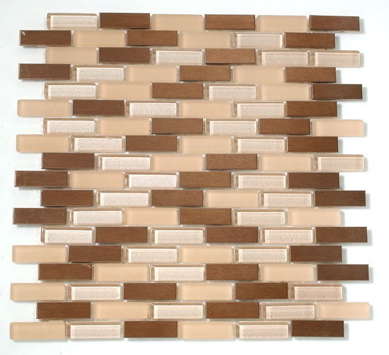 Mirage RS66 Reflection Series Cappuccino Blend Mosaic Tiles
