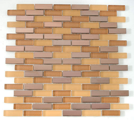 Mirage RS60 Reflection Series Caramel Blend Mosaic Tile