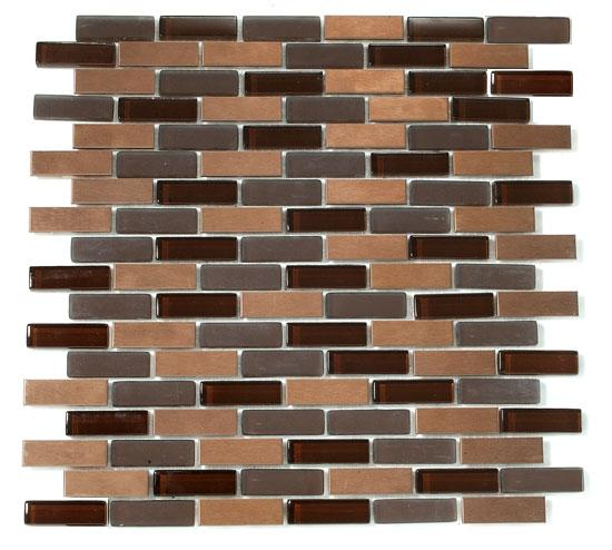 Mirage RS70 Reflection Series Chocolate Truffle Mosaic Tiles