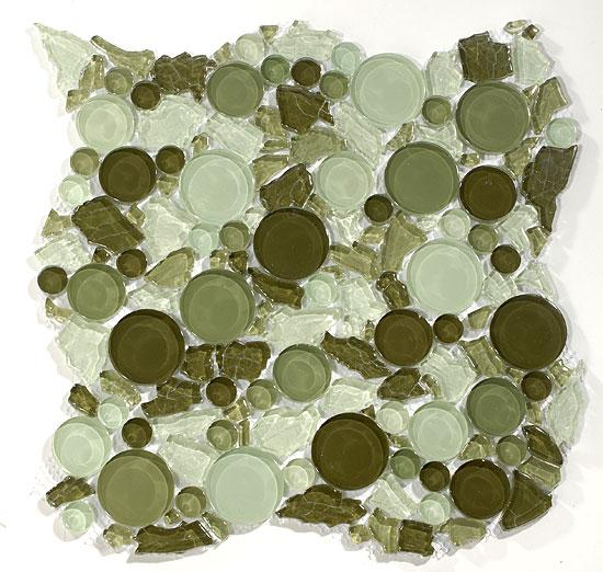 Mirage Lagoon Series LG801 Forest Glass Mosaic Tile