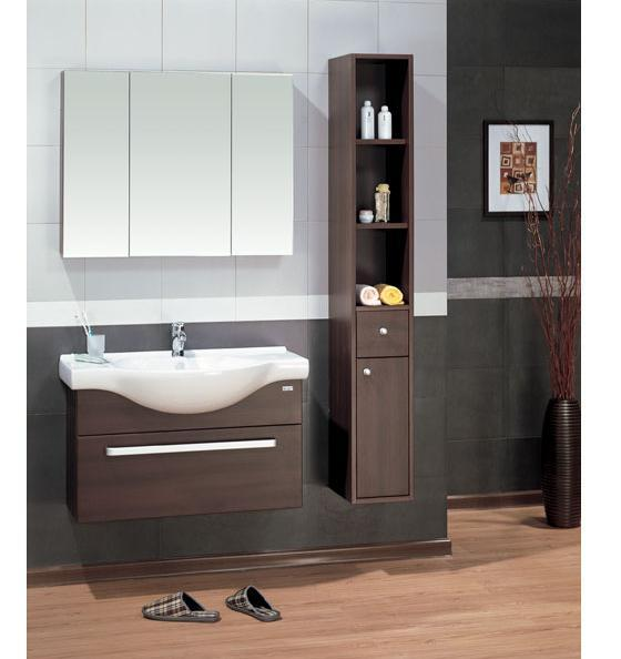LADA Sorrento 90 Wall Hung Bathroom Vanity Set with Mirror Cabinet 36