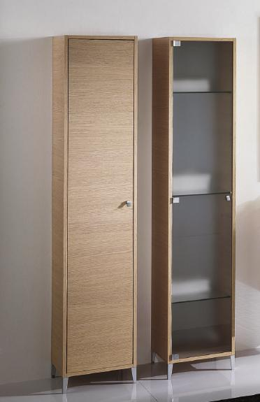 BMT London Collection Bathroom Storage Linen Cabinet in Rovere Wood