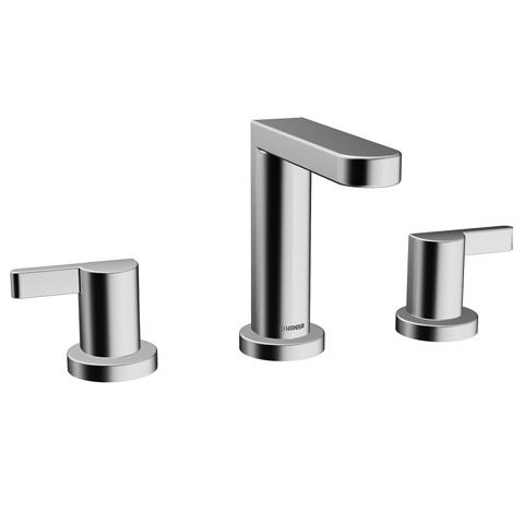 HANSA FORM 5891 2101 0017 Widespread Lavatory faucet with pop-up