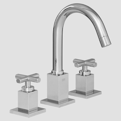 KWC QBIX 12.243.151 3-hole basin two-handle mixer