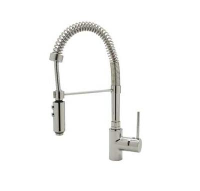 Rohl LS64L Modern Architectural Side Lever Pro Pulldown Kitchen Faucet