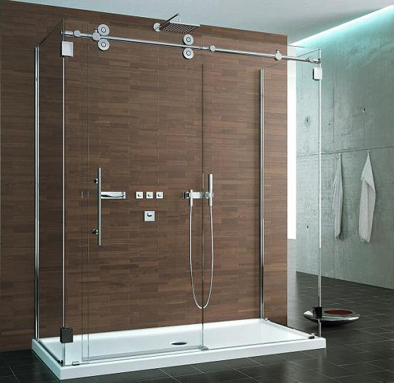 Fleurco KTW372 Three Sided Symmetry Kinetik Hardware Systems Sliding Glass Shower Door