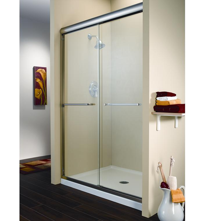 Fleurco Cordoba 2  Panel Sliding Frameless Shower Door