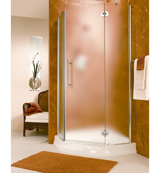 Fleurco Platinum X Neo-Angle Shower Enclosure with Mist Glass