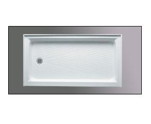 Americh A 6032 EDL Left End Drain Acrylic Shower Base with integral tile flange