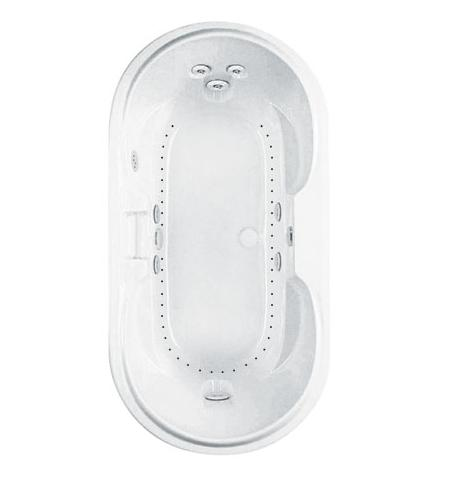 Aquatic LUXEAIR 23 Oval Whirlpool Airtub Bath