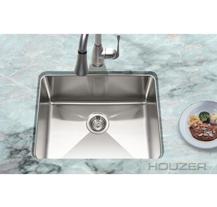 Houzer NOS-4100 Nouvelle Series Undermount Single Bowl Kitchen Sink