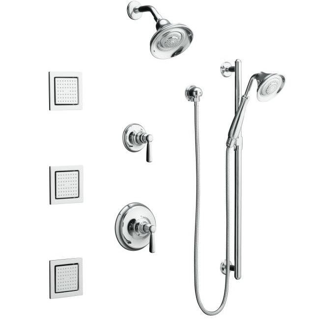 Kohler K-10858-4 Bancroft Luxury performance showering package with body sprays