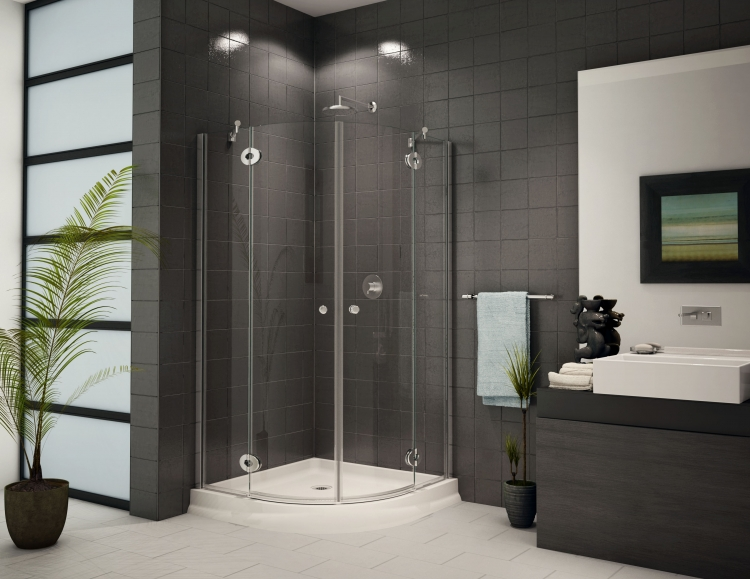 Fleurco Platinum DIVA Corner Round Frameless Shower Door