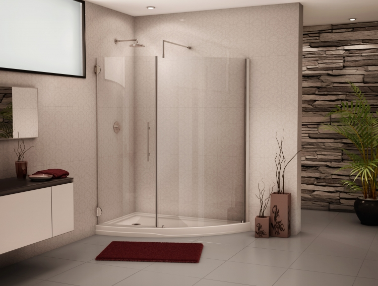 Fleurco Platinum SOLARA Curved Glass Panel and Shower Door