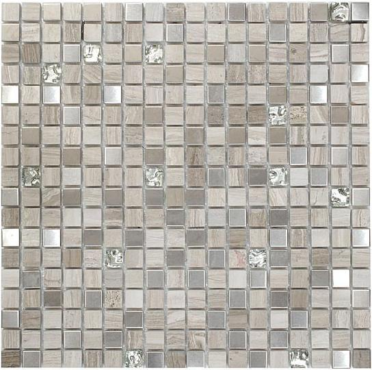 Mirage OP05 Opulence Series White Sand Mosaic Tile