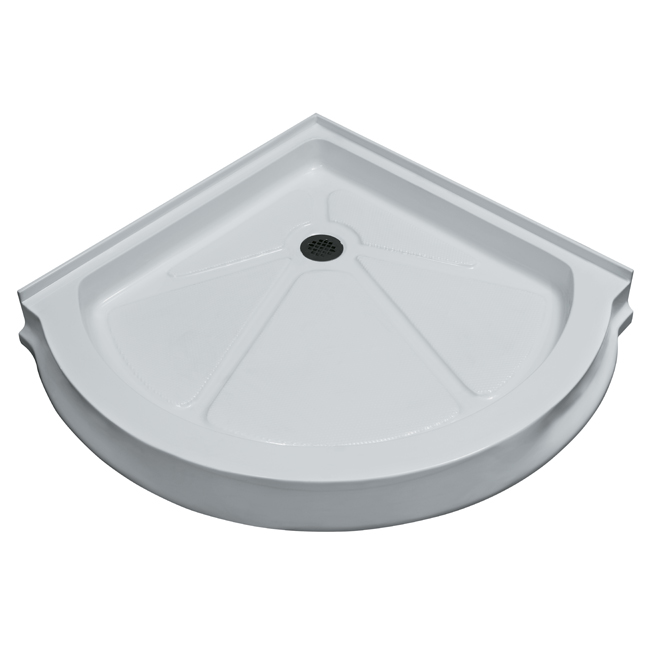 Vigo VG06039WHT40 Acrylic 40x40 Belly Arc Round Shower Base