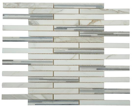 Mirage Glazzio Matrix Mosaic Series MM702 Cloudy Grey Mosaic Tile