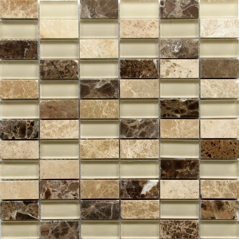 LADA GS68 Glass & Stone Mixed Series Mosaic Tile